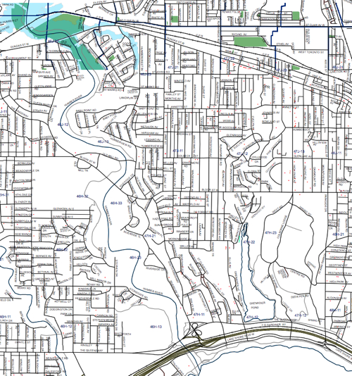 Ward 13 EAB Map